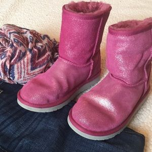 Pink glittery UGG boots